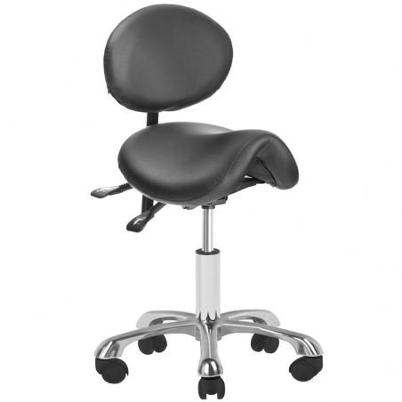 Arbetsstol / sadelstol GIOVANNI 1025 svart med ryggstöd
