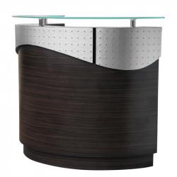 Receptionsdisk GABBIANO 002B furu / glas / metall