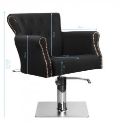 Frisörstol HAIR SYSTEM BER 8541 svart