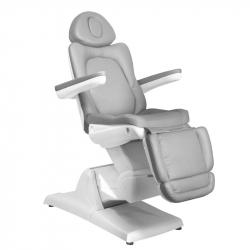 Elektrisk fotvårdsstol / behandlingsbänk AZZURRO 870S PEDI 3-motor grå