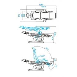Elektrisk behandlingsbänk AZZURRO 870 3-motor vit