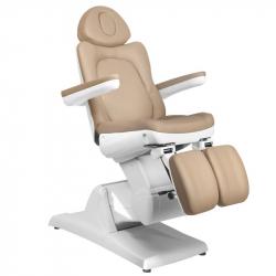 Elektrisk fotvårdsstol / behandlingsbänk AZZURRO 870S PEDI 3-motor beige / brun