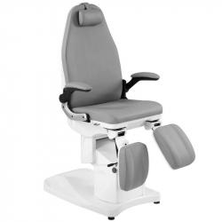 Elektrisk fotvårdsstol / behandlingsbänk AZZURRO 709A PEDI 3-motor grå