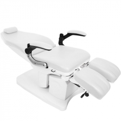 Elektrisk fotvårdsstol / behandlingsbänk AZZURRO 709A PEDI 3-motor vit