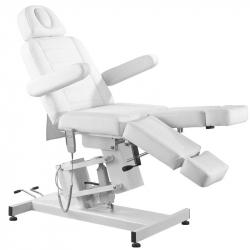 Elektrisk fotvårdsstol / behandlingsbänk vit AZZURRO 706 PEDI