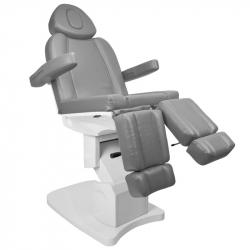 Elektrisk fotvårdsstol / behandlingsbänk AZZURRO 708AS PEDI 3-motor grå