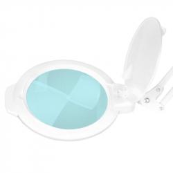 Förstoringslampa / arbetslampa vit med bordsfäste LED MOONLIGHT 8012/5