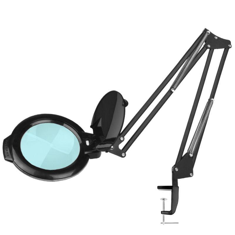 Förstoringslampa / arbetslampa svart med bordsfäste LED MOONLIGHT 8012/5