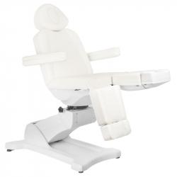 Elektrisk fotvårdsstol / behandlingsbänk AZZURRO 869AS PEDI vridbar 5-motor vit