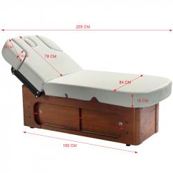 Elektrisk behandlingssäng / massagebänk AZZURRO SPA WOOD 361A 4-motor