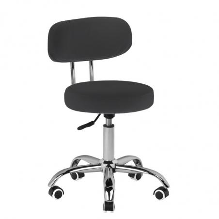Låg arbetsstol A-007 svart för fotvård