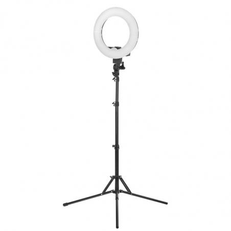 Ringlampa / LED arbetslampa 12 tum med stativ