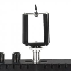 Ringlampa / arbetslampa LED 18 tum svart med stativ