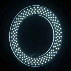 Ringlampa / LED arbetslampa 12 tum vit med stativ