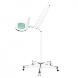 Förstoringslampa / arbetslampa ELEGANTE 6028 LED 5D vit med stativ / hjul