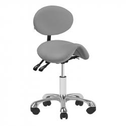 Arbetsstol / sadelstol GIOVANNI 1025 grå med ryggstöd