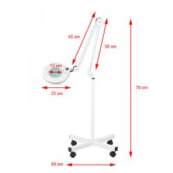 Förstoringslampa / arbetslampa S4 LED med stativ / hjul och reglerbar ljusstyrka