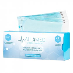 Steriliseringspåsar för autoklav ALL4MED 100mm x 230mm 200st