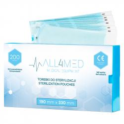 Steriliseringspåsar för autoklav ALL4MED 190mm x 330mm 200st