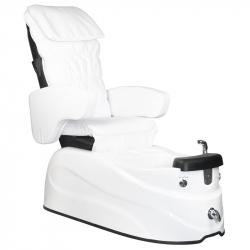 Pedikyrstol SPA AS-122 med benstöd och massage vit