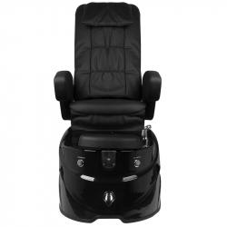 Pedikyrstol SPA AS-122 med benstöd och massage svart