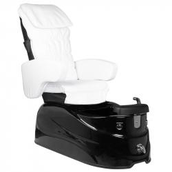 Pedikyrstol SPA AS-122 med benstöd och massage vit/svart
