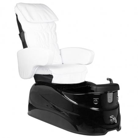 Pedikyrstol SPA AS-122 med benstöd och massage vit / svart