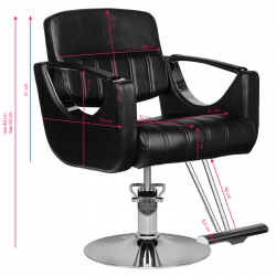 Frisörstol HAIR SYSTEM HS52 svart