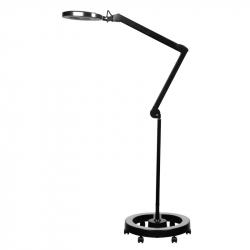 Förstoringslampa / arbetslampa ELEGANTE 6025 LED svart med stativ / hjul