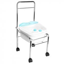 Fotbad med vibrationsmassage och infraröd värme AM-506A + silver Rullvagn