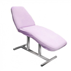 Överdrag / sängskydd i frotté NR.14 till behandlingssängar violett
