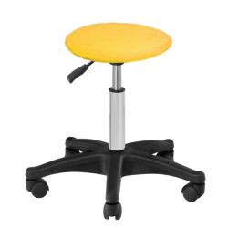 Överdrag / skydd i frotté NR.6 till pall / stol gul