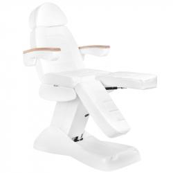 Elektrisk fotvårdsstol / behandlingsbänk vit LUX PEDI 3M