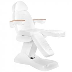 Elektrisk fotvårdsstol / behandlingsbänk LUX PEDI vit 5-motor