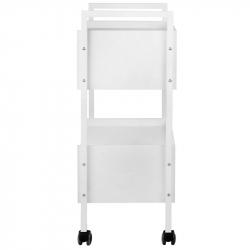 Rullvagn 1019 vit med två låsbara lådor