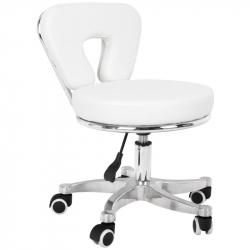 Låg arbetsstol 9266 vit för fotvård