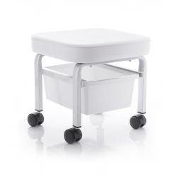 Arbetspall på hjul med förvaring låda