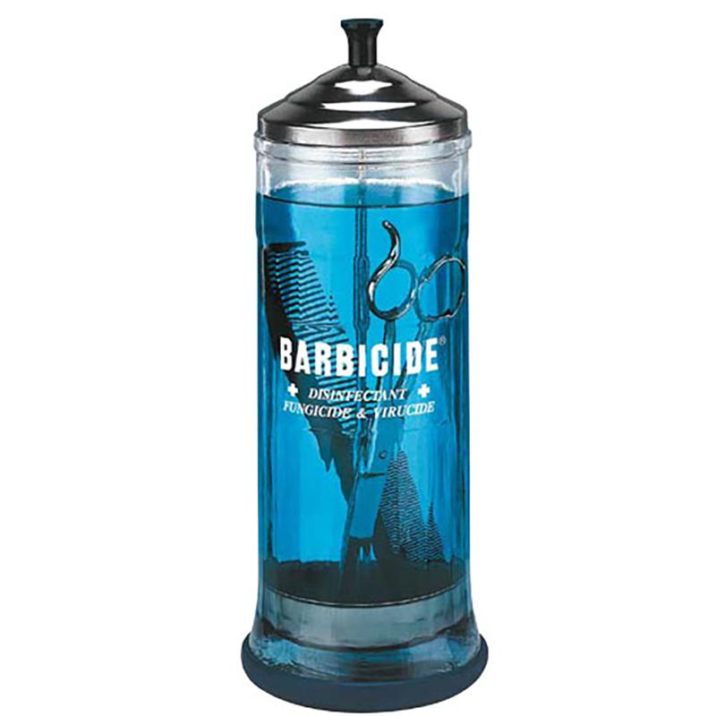 Glasbehållare för desinfektion BARBICIDE 1100 ml
