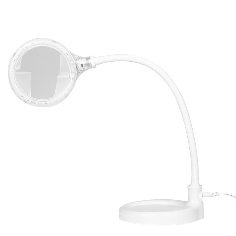 Arbetslampa / förstoringslampa LED med lupp 5 dioptrier