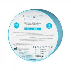Steriliseringspåsar för autoklav ALL4MED 5,5cm x 200m