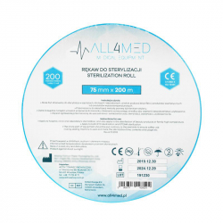 Steriliseringspåsar för autoklav ALL4MED 7,5cm x 200m