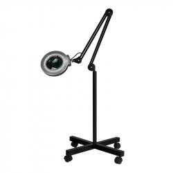 Förstoringslampa / arbetslampa S4 LED svart med stativ / hjul