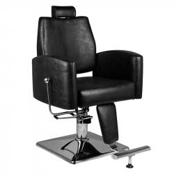 Barberarstol HAIR SYSTEM SM184 svart