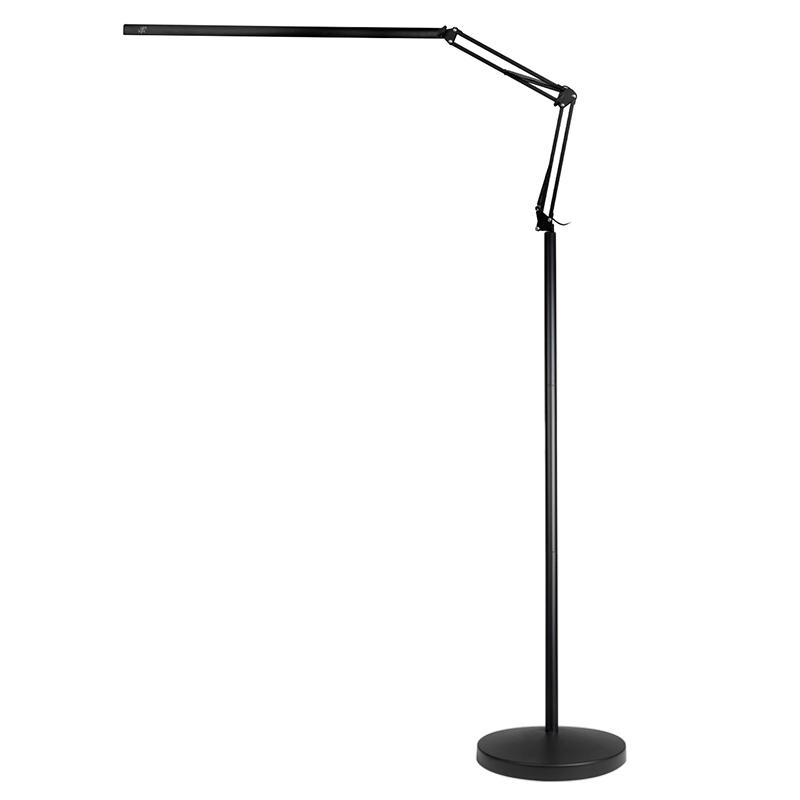 Arbetslampa / golvlampa ALL4LIGHT LASHES LINE 2 12W svart med stativ
