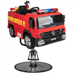 Frisörstol GABBIANO brandbil röd för barn
