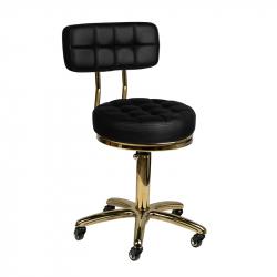Arbetsstol / kundstol GOLD AM-961 svart med ryggstöd