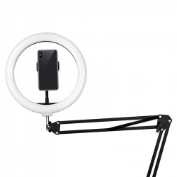Ringlampa / LED arbetslampa 10 tum med bordstativ