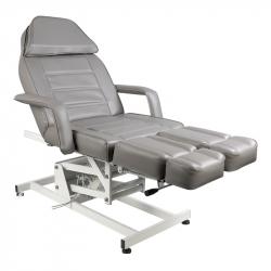 Elektrisk fotvårdsstol / behandlingsbänk grå AZZURRO 673AS PEDI 1-motor
