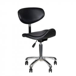 Arbetsstol / sadelstol 1637 med ryggstöd svart