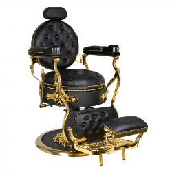 Barberarstol GABBIANO CESARE GOLD svart